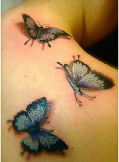 3d butterfly tattoo art