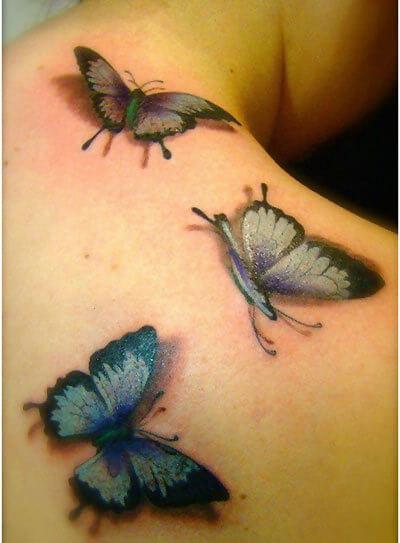 Arte del tatuaggio farfalla 3D