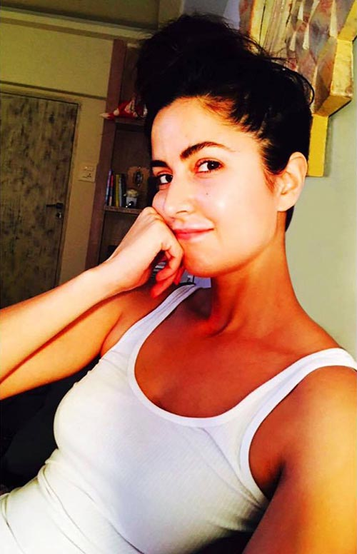Katrina Kaif With Bunned Up Hair