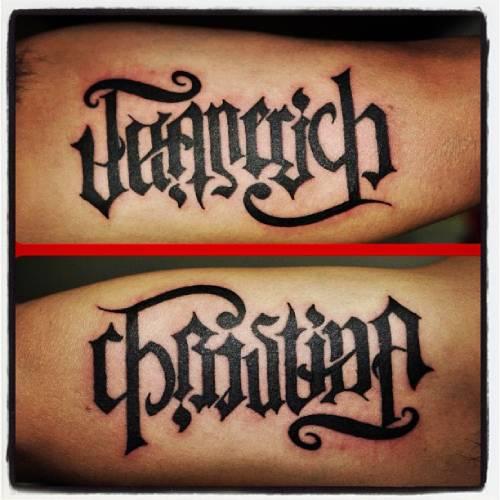 5. Rotational Ambigram Tattoo
