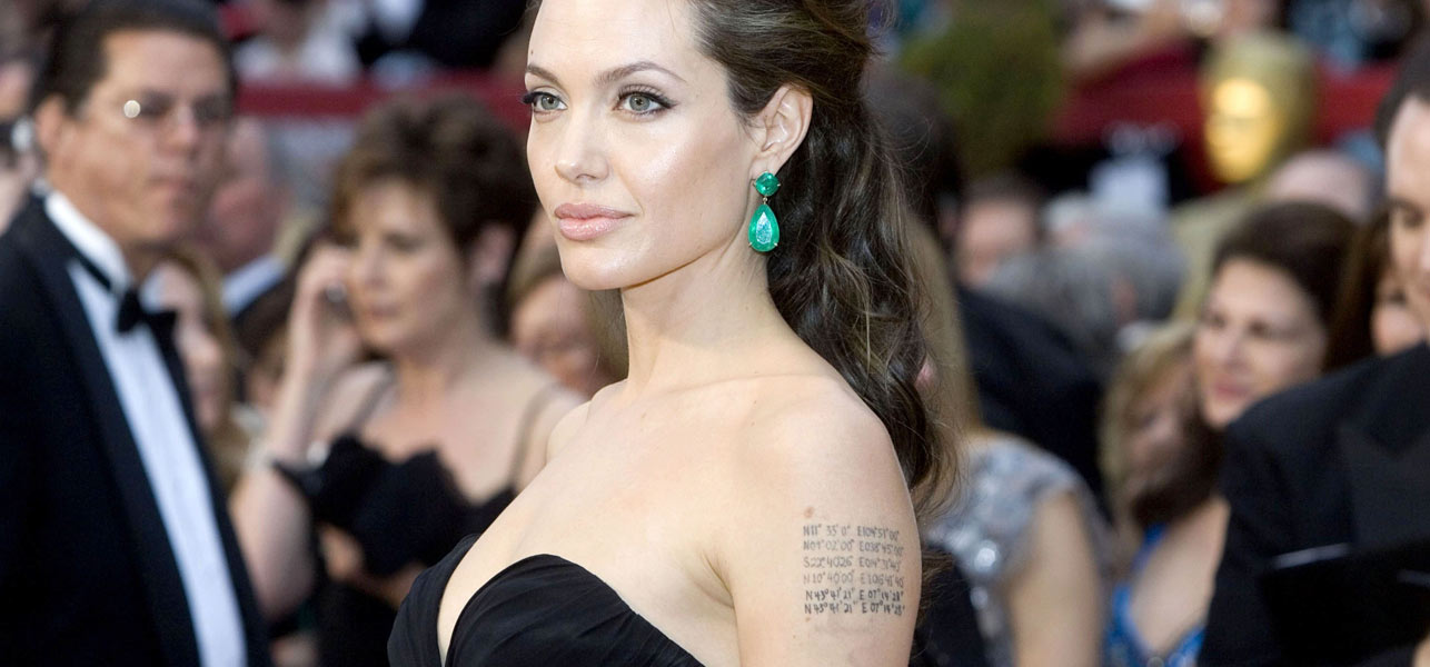 8 Stylish Angelina Jolie's Tattoos & Their Meanings