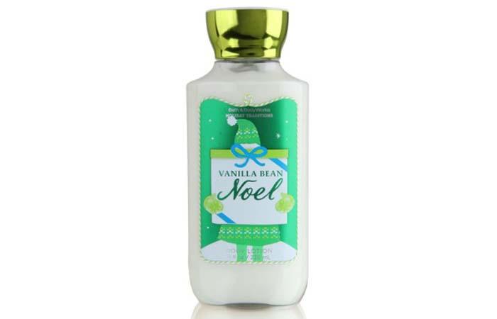 7. Bath And Body Works Vanilla Bean Noel Body Lotion