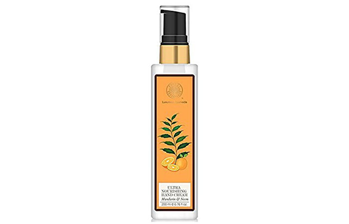 9. Forest Essentials Mandarin and Neem Hand Cream