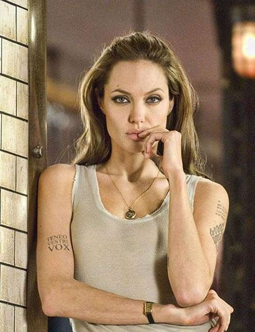 Angelina Jolie's Arm Tattoos