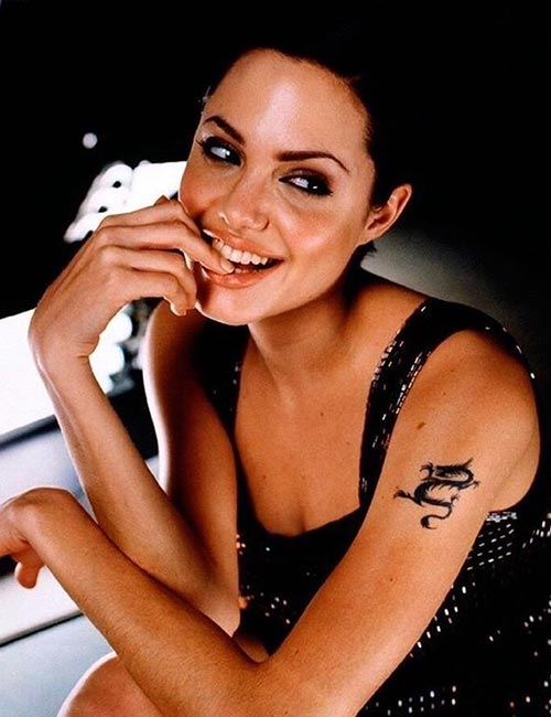 Angelina Jolie's Dragon Tattoo