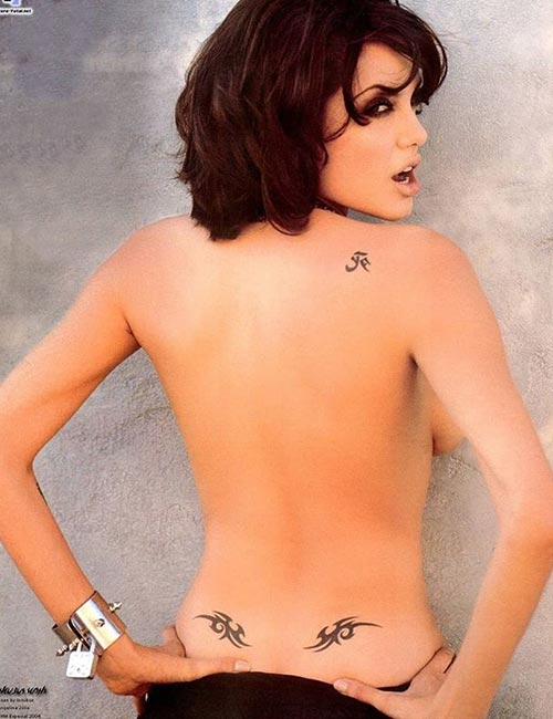 Angelina Jolie's Japanese Death Tattoo