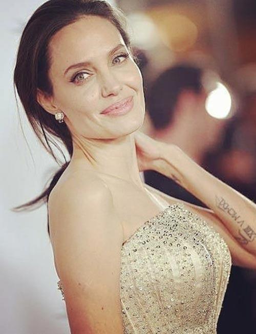 Angelina Jolie's Roman Numeral Tattoo