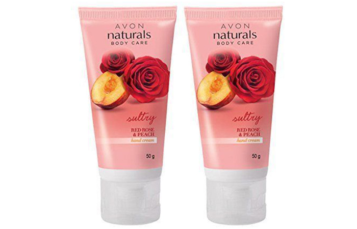 Avon Naturals Sultry Red Rose And Peach Hand Cream - Hand Creams
