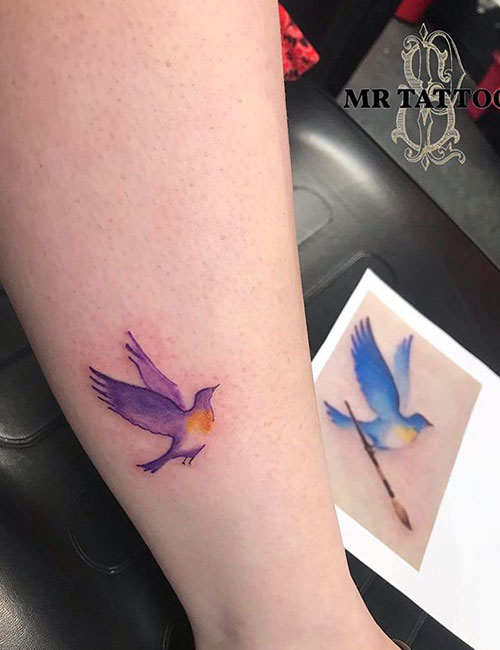 Small Bird Tattoo On Sleeve