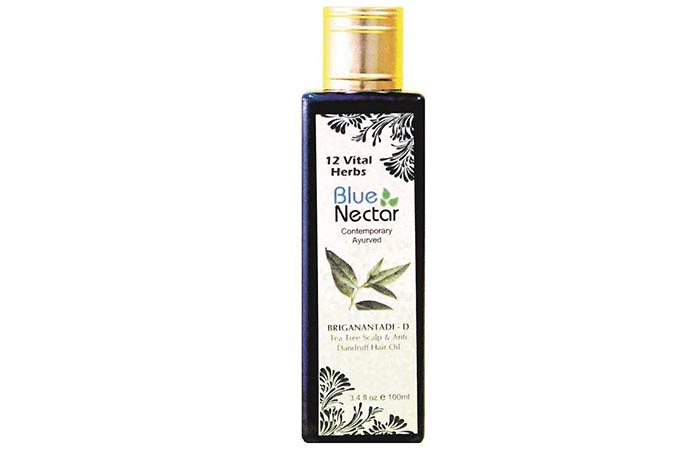 Blue Nectar Bhringanantadi-D Tea Tree Scalp & Anti Dandruff Hair Oil