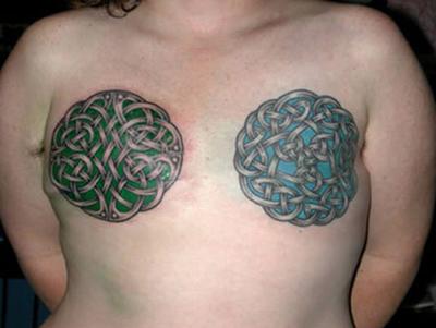 Celtic breast tattoo