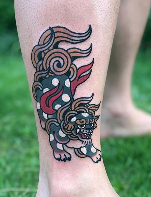 Chinese Ankle Tattoo