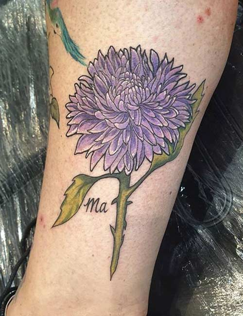 Chrysanthemum Blossom Tattoo