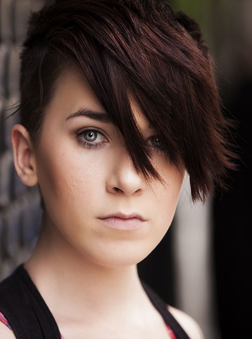 Cropped Emo Hairdo With Spikes