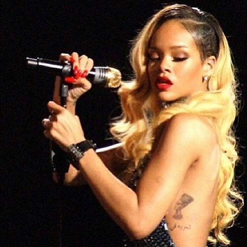 Rihanna Egyptian Queen Tattoo