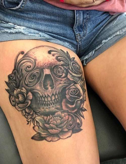 Flowery Skull Tattoos