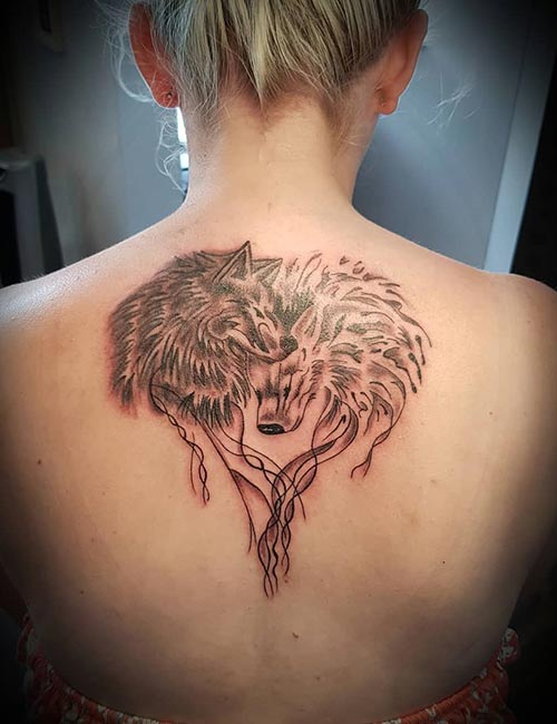 Heart Wolf Tattoo