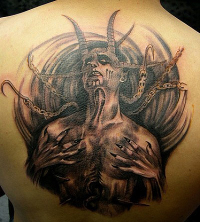 Horrifying Full Body Tatoo