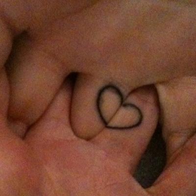 Initial couple tattoo