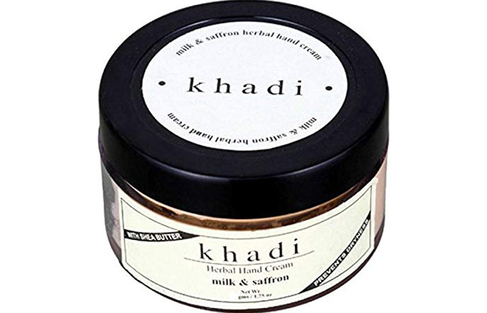 Khadi Milk And Saffron Herbal Hand Cream - Hand Creams