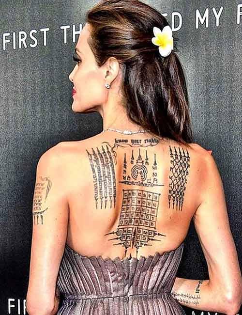 Angelina Jolie's Tattoo - Khmer Script
