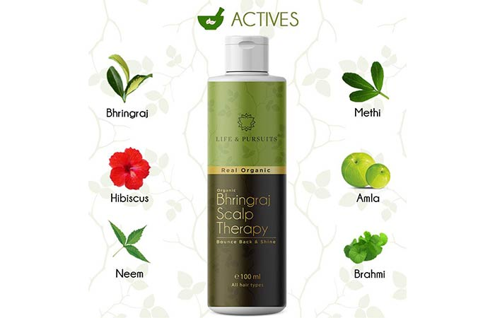 Life & Pursuits Real Organic Bhringraj Scalp Therapy