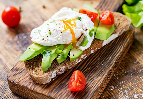 Low-Protein Egg And Avocado Toast