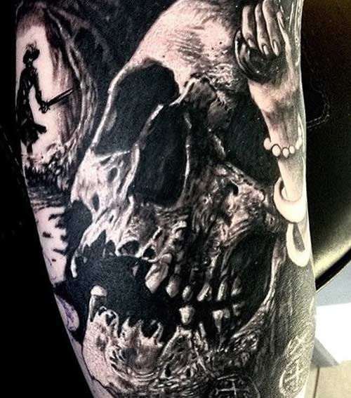 Picturesque Skull Tattoos