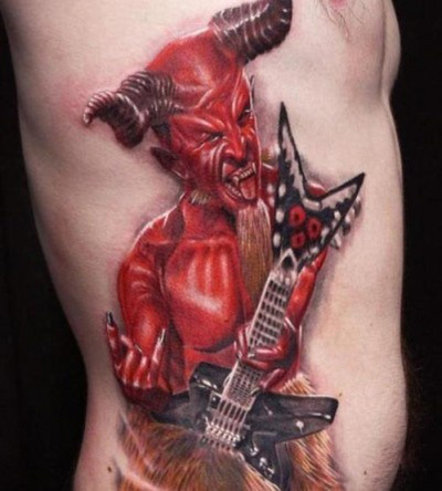 Rockstar Devil Tattoo