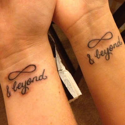 Same design couple tattoo