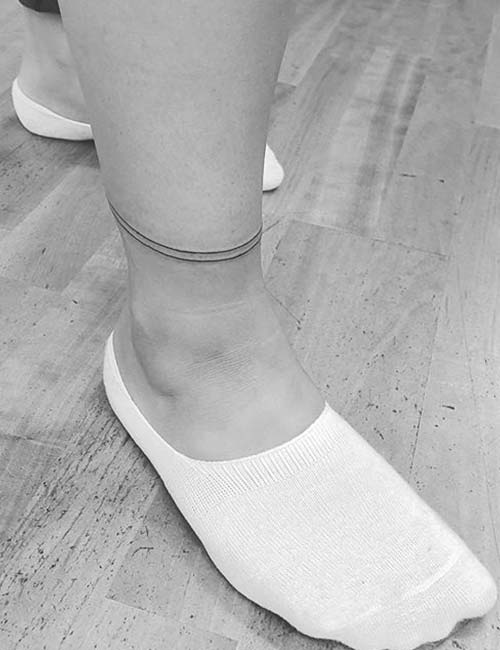 Sexy Band Ankle Tattoo