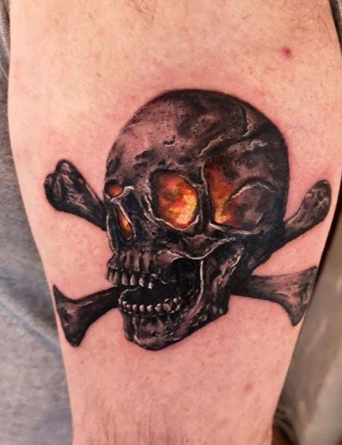 Skull And Crossbones Tattoo Design