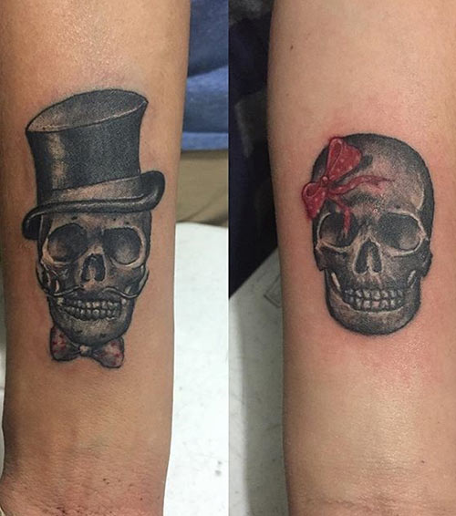 Skull Tattoos For Couples