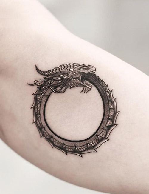 Spiral Dragon Tattoo