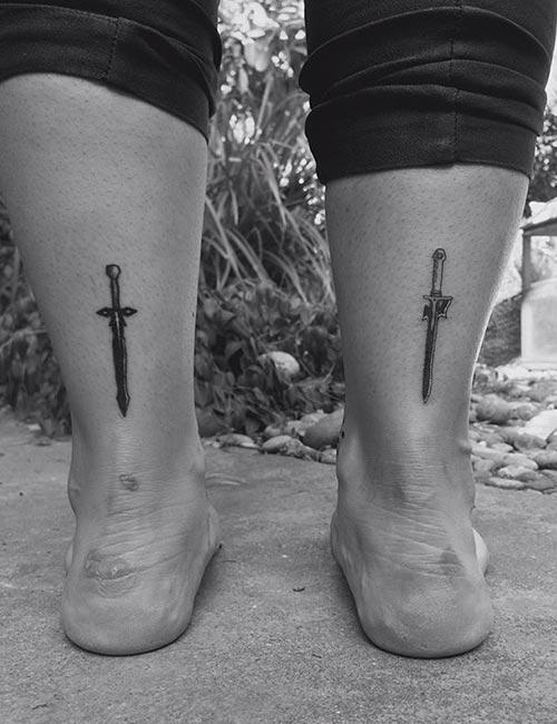 Sword Ankle Tattoo