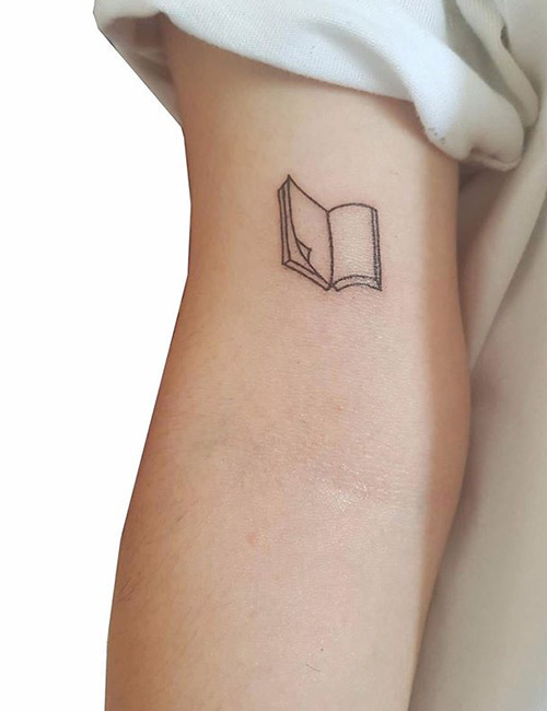 Book Tattoo Design