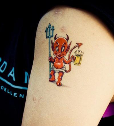 The Cute Full Body Cupid like Devil Tattoo