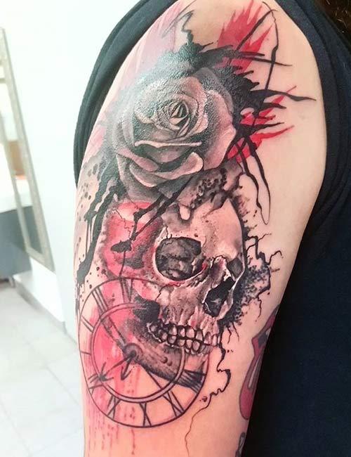 Trash Polka Skull Tattoos