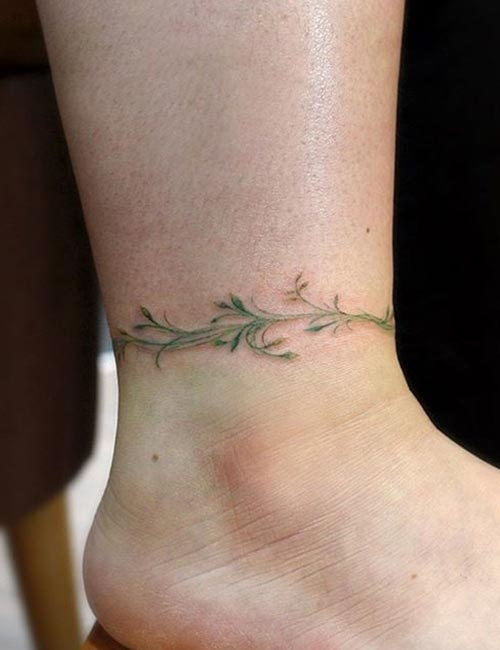 Vine Ankle Tattoo