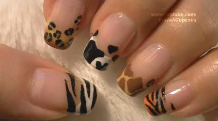 animal prints nail art