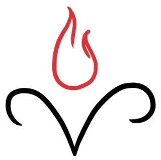 aries symbol with fire