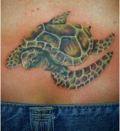 asian style turtle tattoo