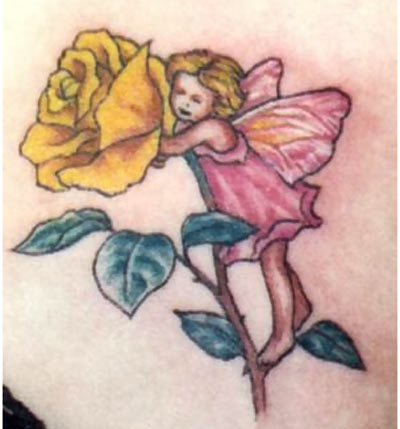 baby fairy tattoo
