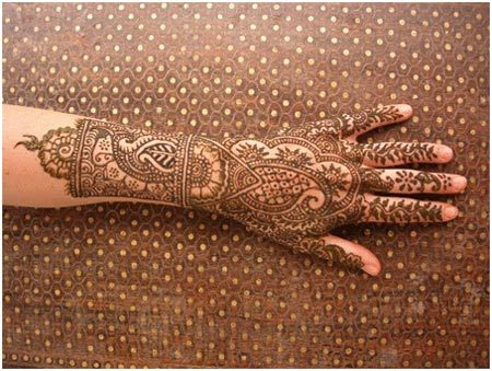 bangle style mehndi designs