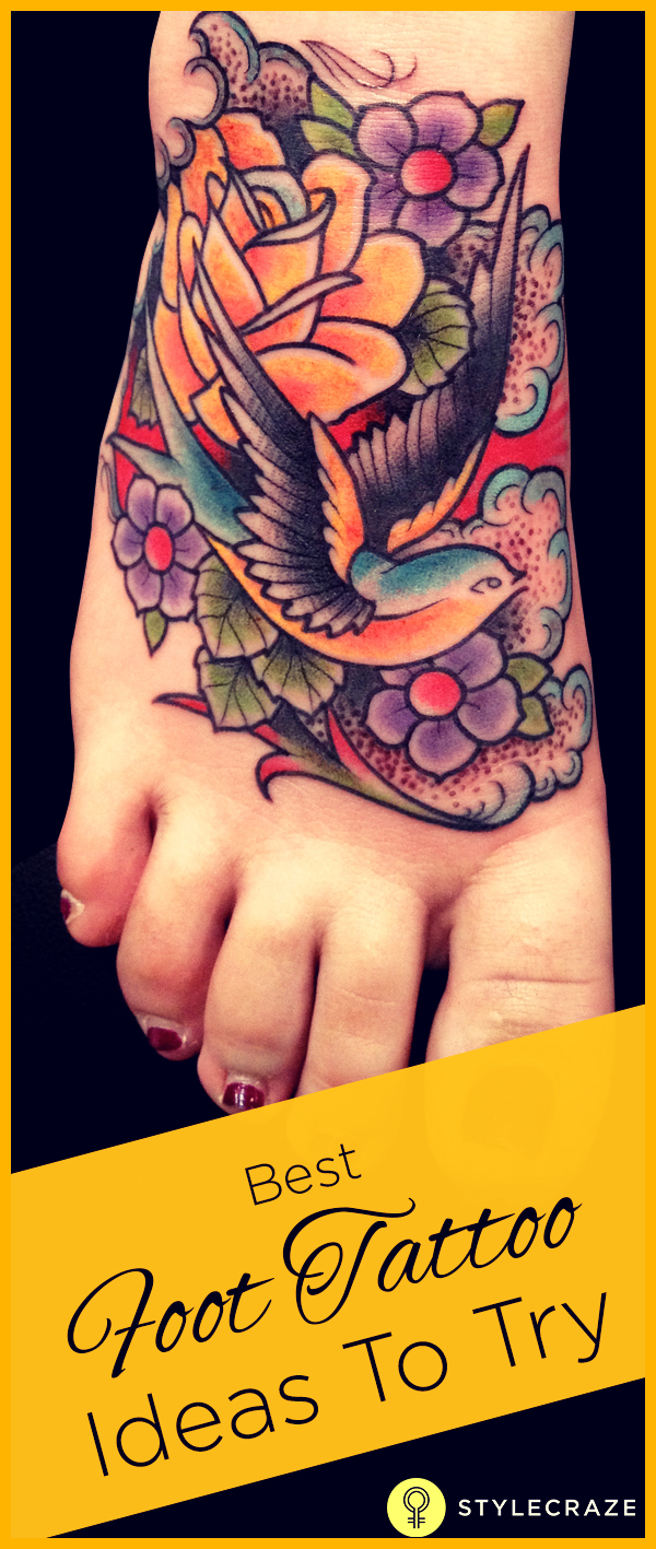 best foot tattoo ideas to try 01