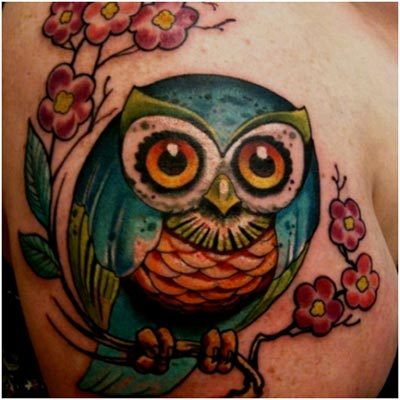 big eyed owl tattoos