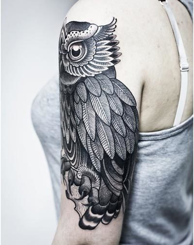 White Owl Tattoo