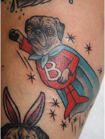 black pug tattoos