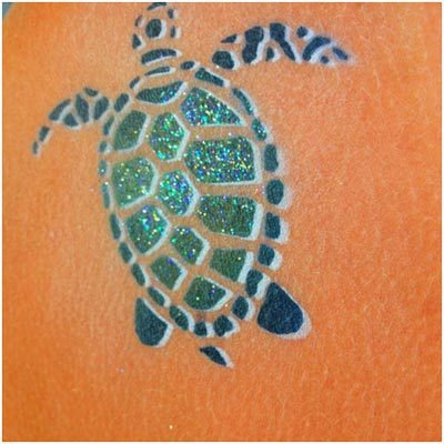 brush turtle tattoo