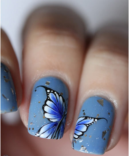Butterfly Nail Art: 50 Animal Themed Nail Art Designs To Inspire You